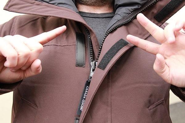 canada goose double zipper