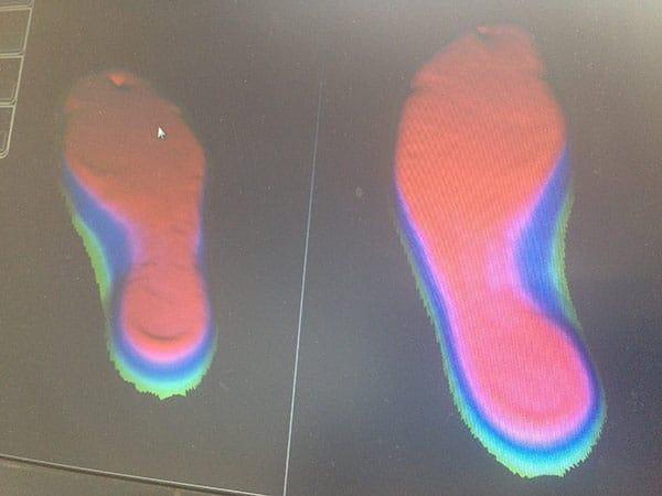 MATH Sport : empreinte 3D du pied