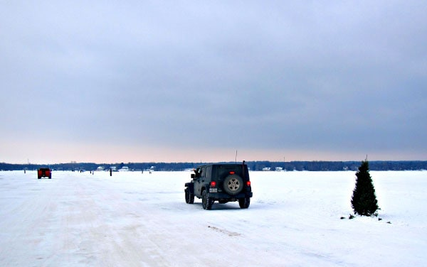 No ferry? No problem! Crossing the ice bridge between Hudson and Oka