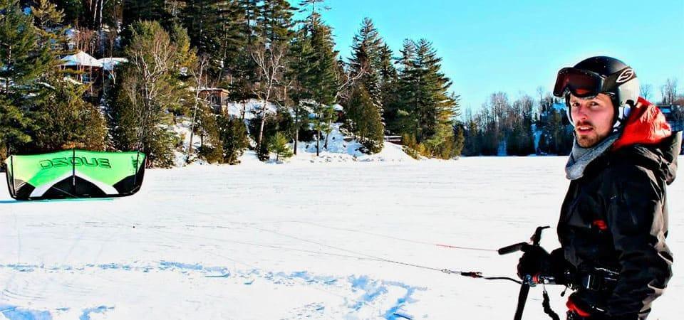 Ski & Snowboard. How to Kite Ski & Feel the Wind