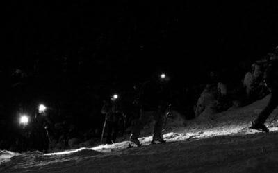 Ski & Snowboard. Skinning up Mont-Tremblant.