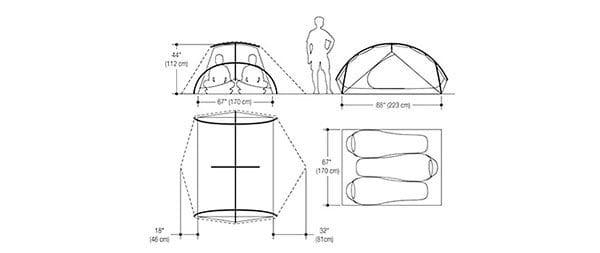 Marmot fuse tent dimensions