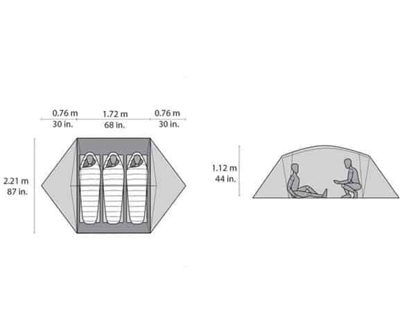 MSR mutha hubba tent dimensions