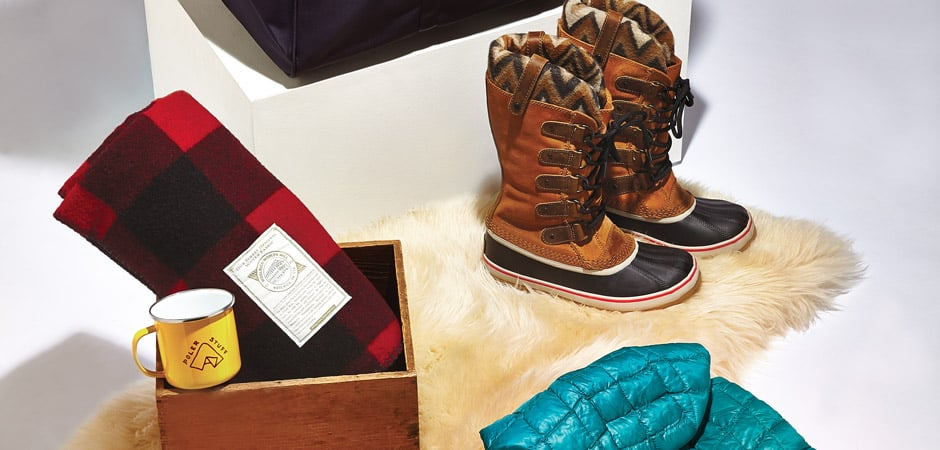 Barbour, FIG Clothing, Sorel, Swims, The North Face, Woolrich, Woolrich John Rich & Bros. The Chalet Look for Women: Enjoy & Relax