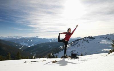 Yoga. Après le hot yoga: le snowga.