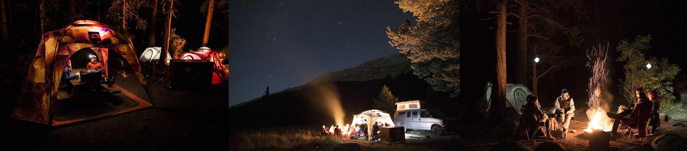camping avec la collection homestead de TNF