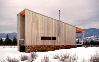 . Methow Cabin: architecture, montagnes et vallées.