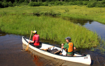 Alpine Aire, Camping. Canoe camping in La Mauricie National Park.