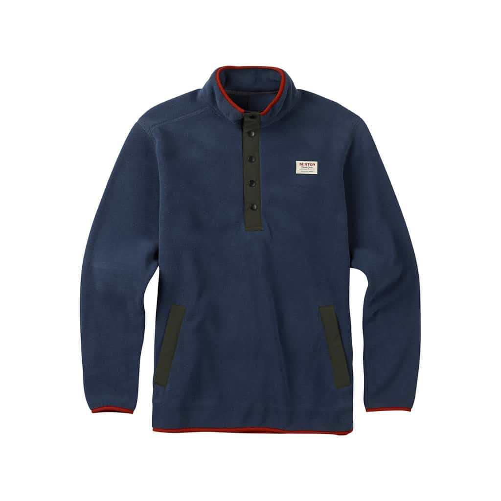 burton mens hearth fleece anorak