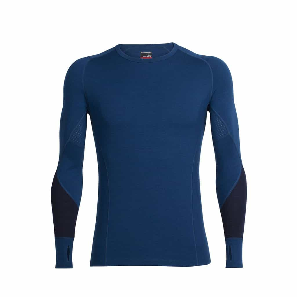 icebreaker mens winter long sleeve crew