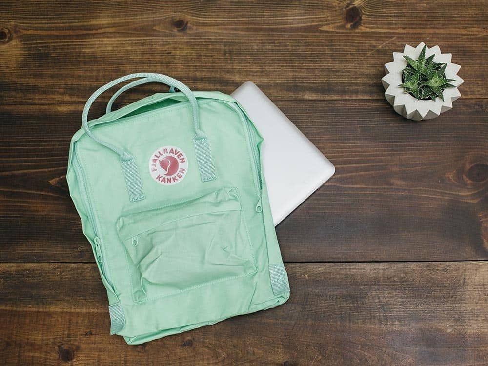 Genuine Arctic fox Fjallraven Kanken Classic black backpack bag spot