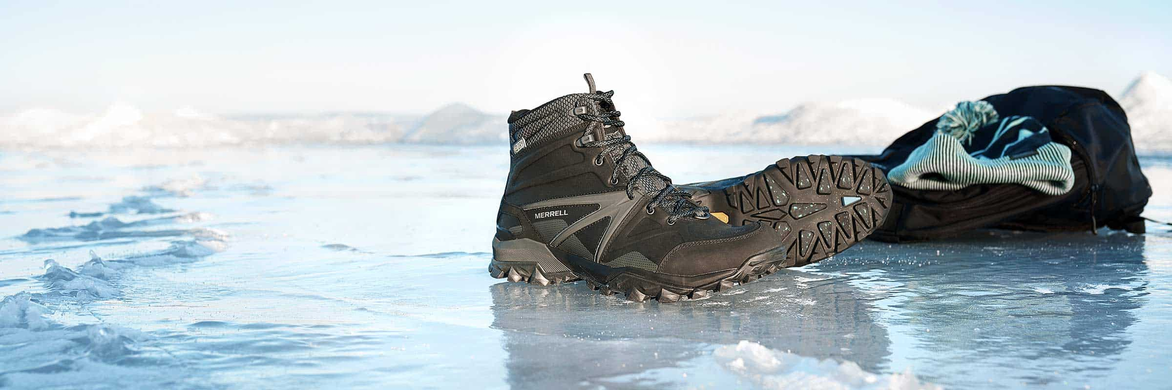 Boots, Merrell, Saucony, Sperry Top-Sider, Winter, Wolverine. With Vibram Arctic Grip™ Soles, You'll Never Slip on Ice Again