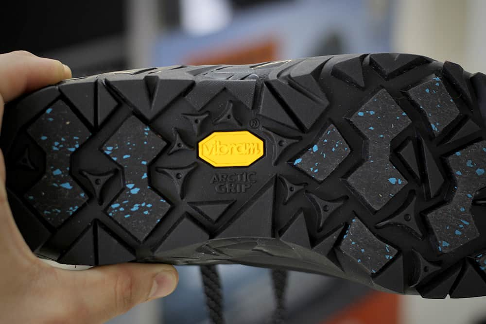 6c7678cf1dd The sole of a shoe equipped with Arctic Grip™ will have Arctic Grip™  designated lugs that use the technology to grip wet, icy surfaces.