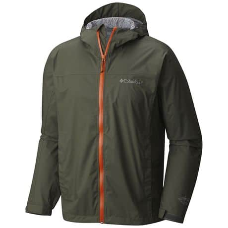 mens columbia rain coat