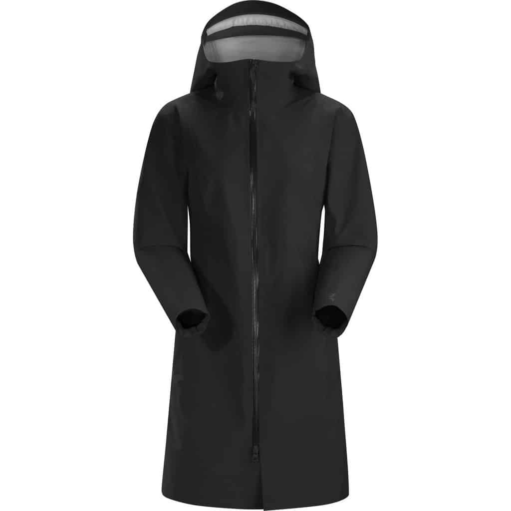 womens black imber raincoat