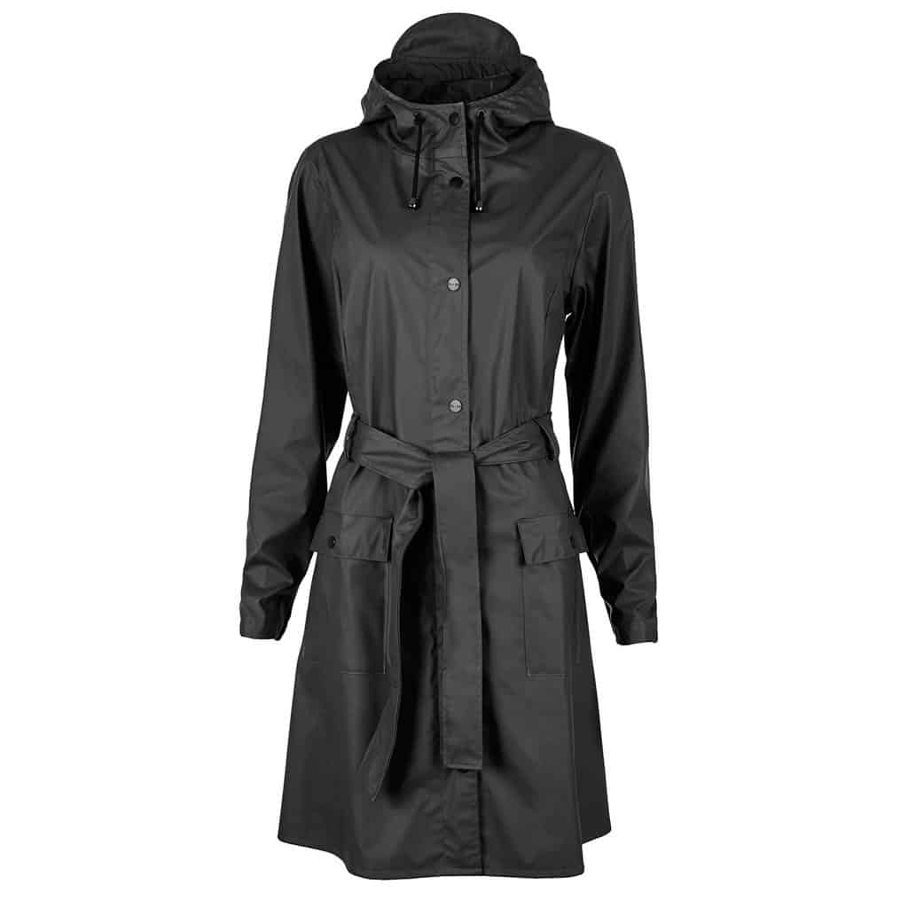 curve raincoat black
