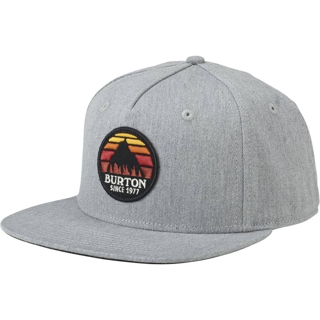 grey burton cap