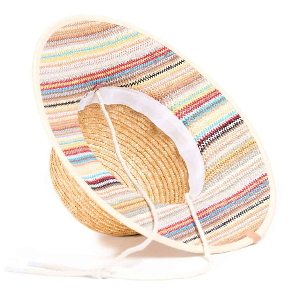 bottom of straw summer hat