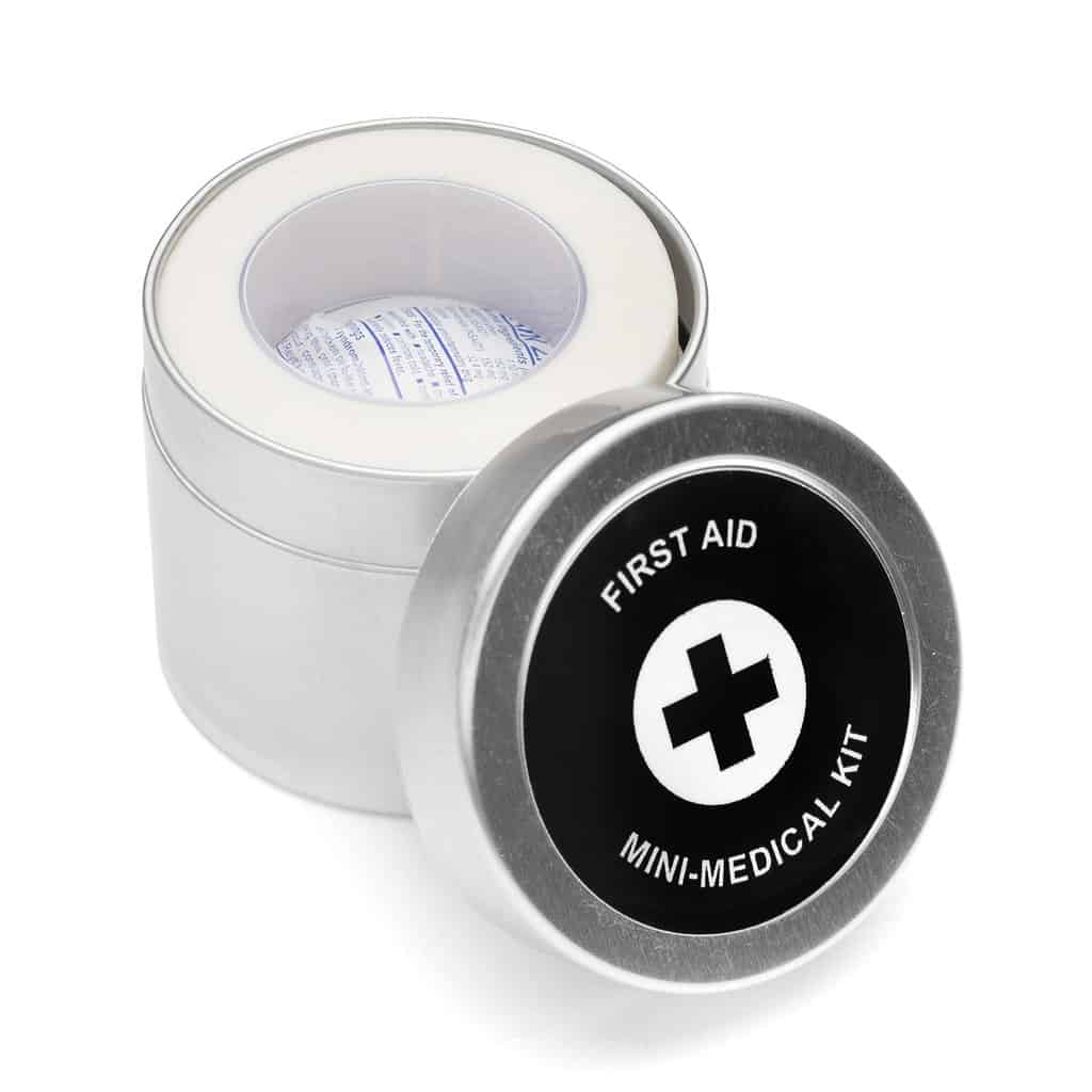 large first aid tin