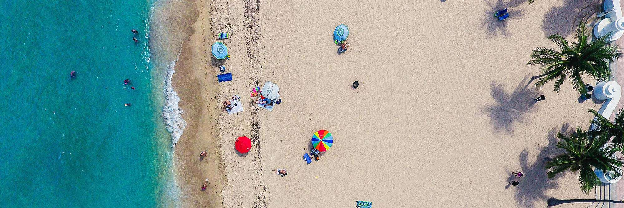 birds eye view of beach