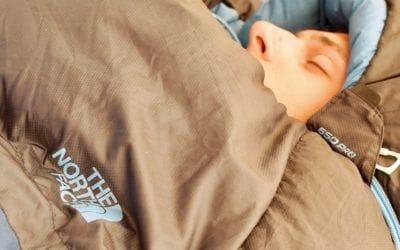 Camping, The North Face. Revue du sac de couchage Blue Kazoo par The North Face.