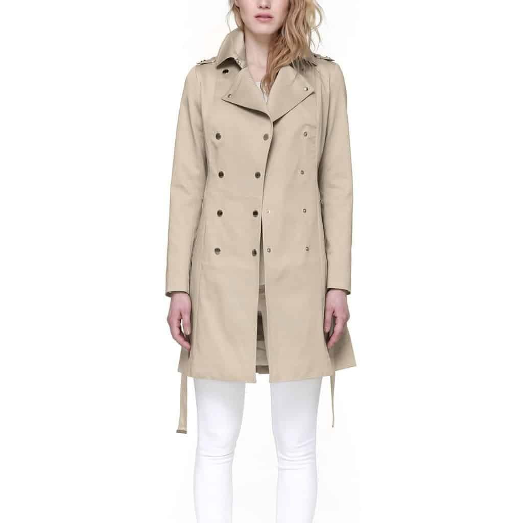 tahlia stretch cotton coat