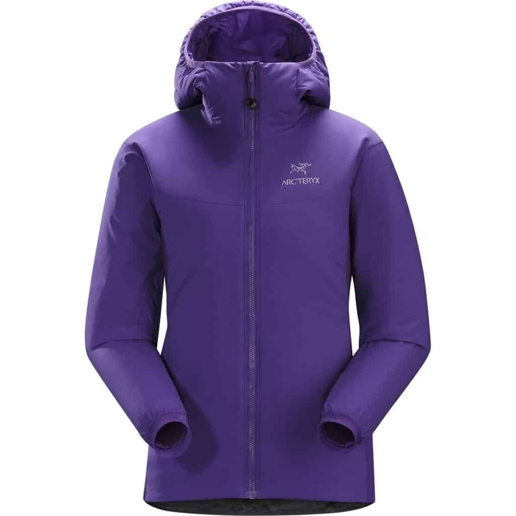 arcteryx womens atom lt hoodie purple