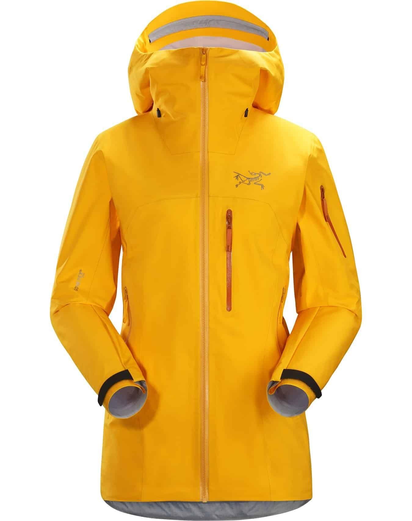 arcteryx womens shashka jacket yellow