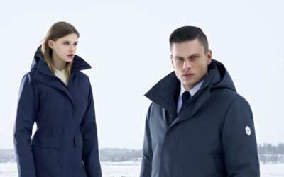 Hiver, Quartz Co.. Altitude Sports X Quartz Co. : un manteau d'hiver urbain en asclépiade.