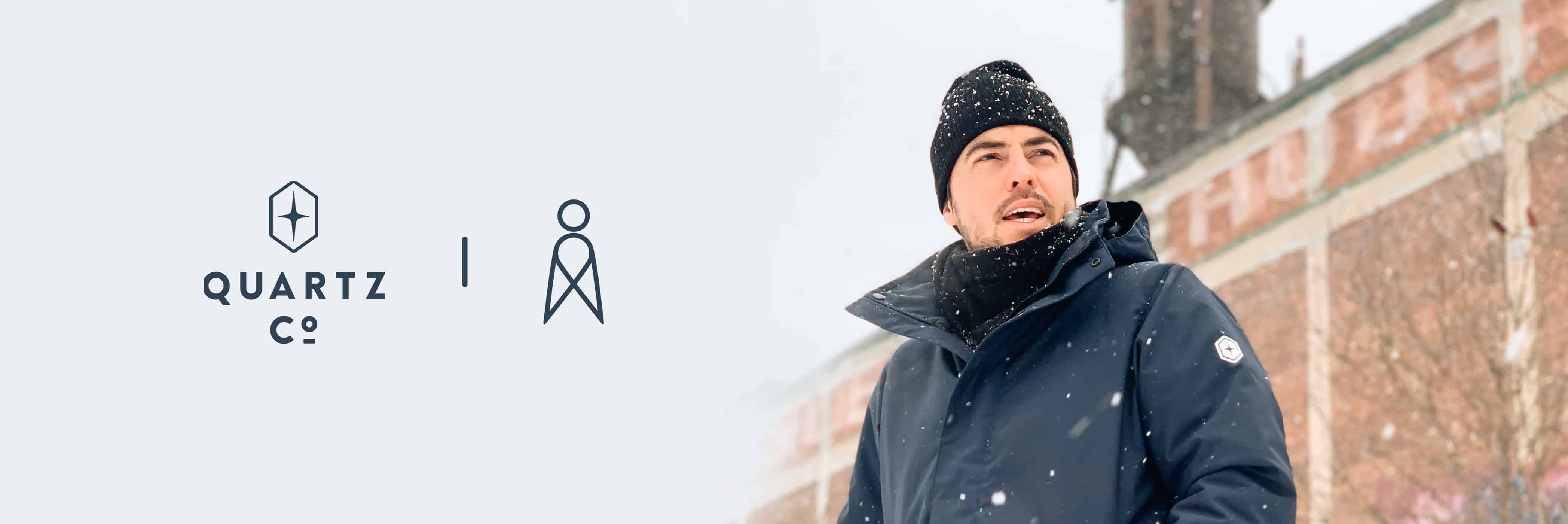 Hiver, Quartz Co.. Altitude Sports X Quartz Co. : un manteau d'hiver urbain en asclépiade