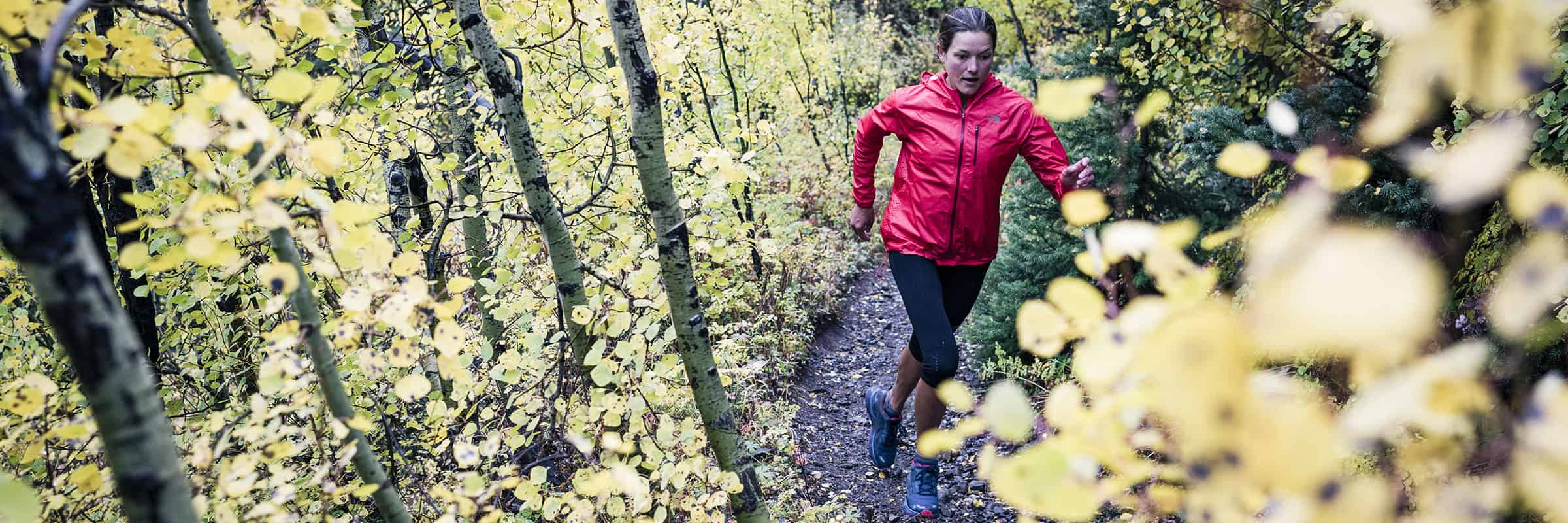 the north face athlete running