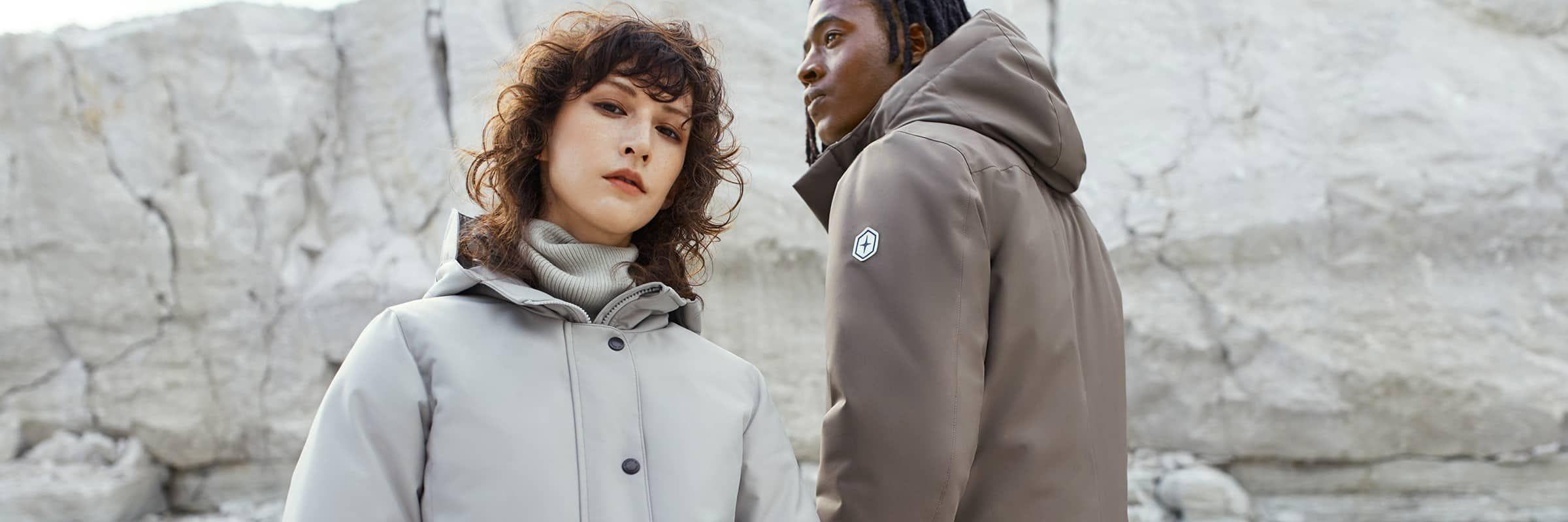 Nos manteaux d'hiver conçus ou fabriqués au Canada