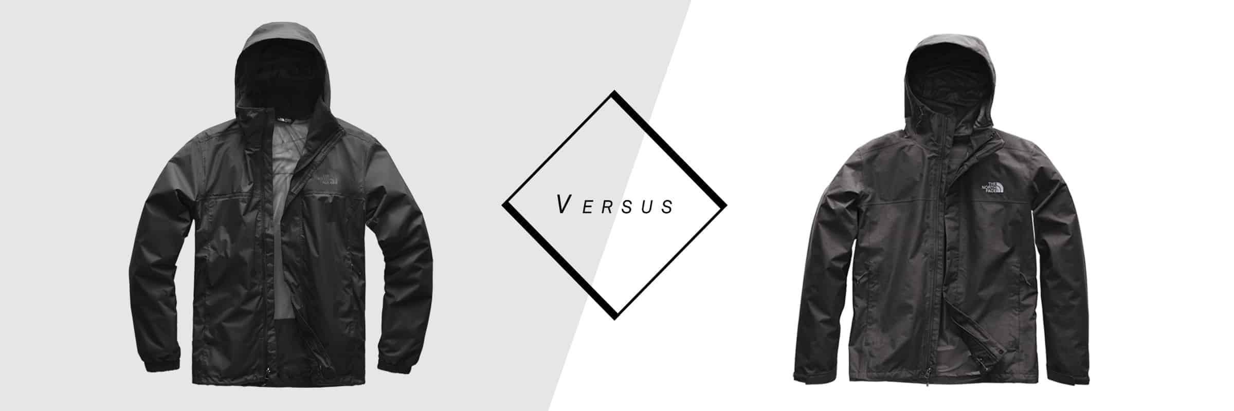 The North Face : Manteau de pluie Resolve 2 vs Venture 2