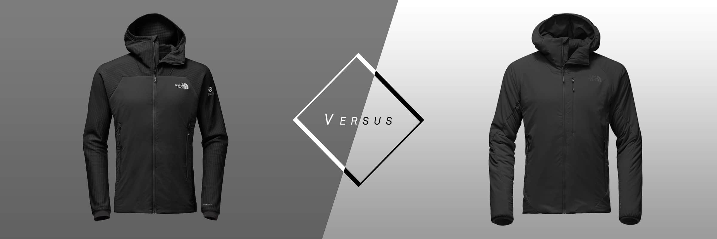 The North Face. The North Face: Ventrix Hoodie VS Summit L3 Ventrix Hybrid Hoddie