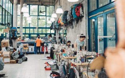 Osprey. Du concept à la commercialisation: les étapes de production des sacs Osprey..