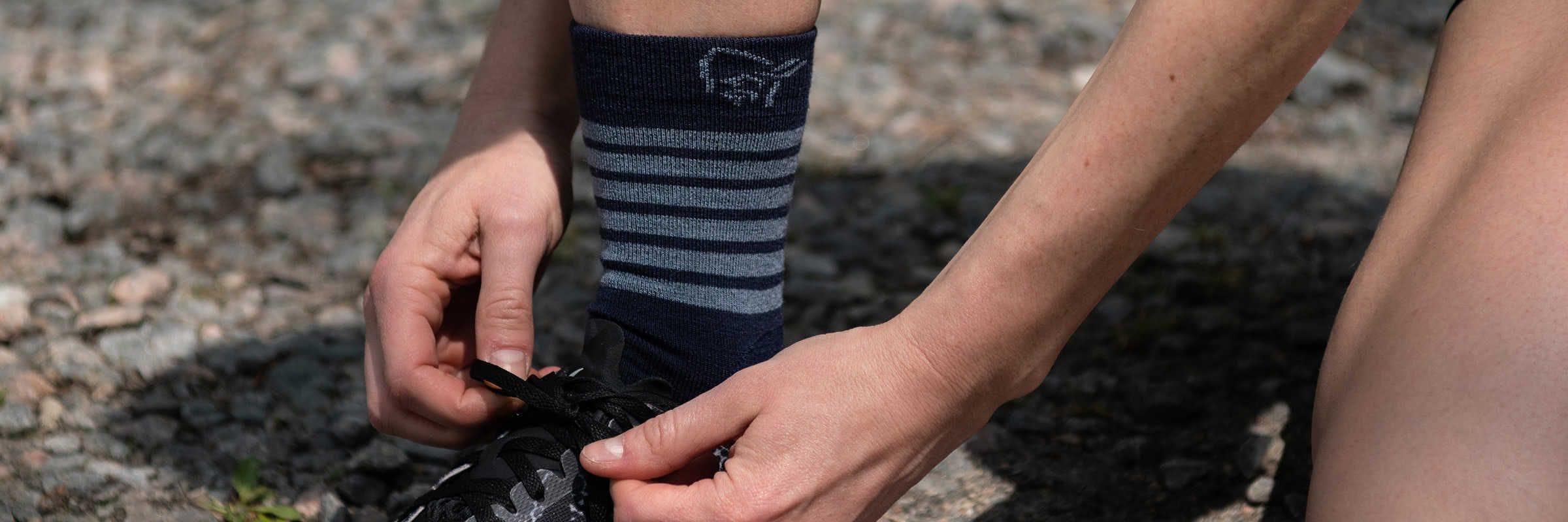 Revue des chaussettes légères en mérinos Falketind par Norrøna