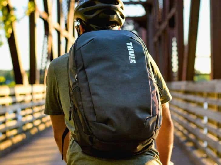 black thule backpack