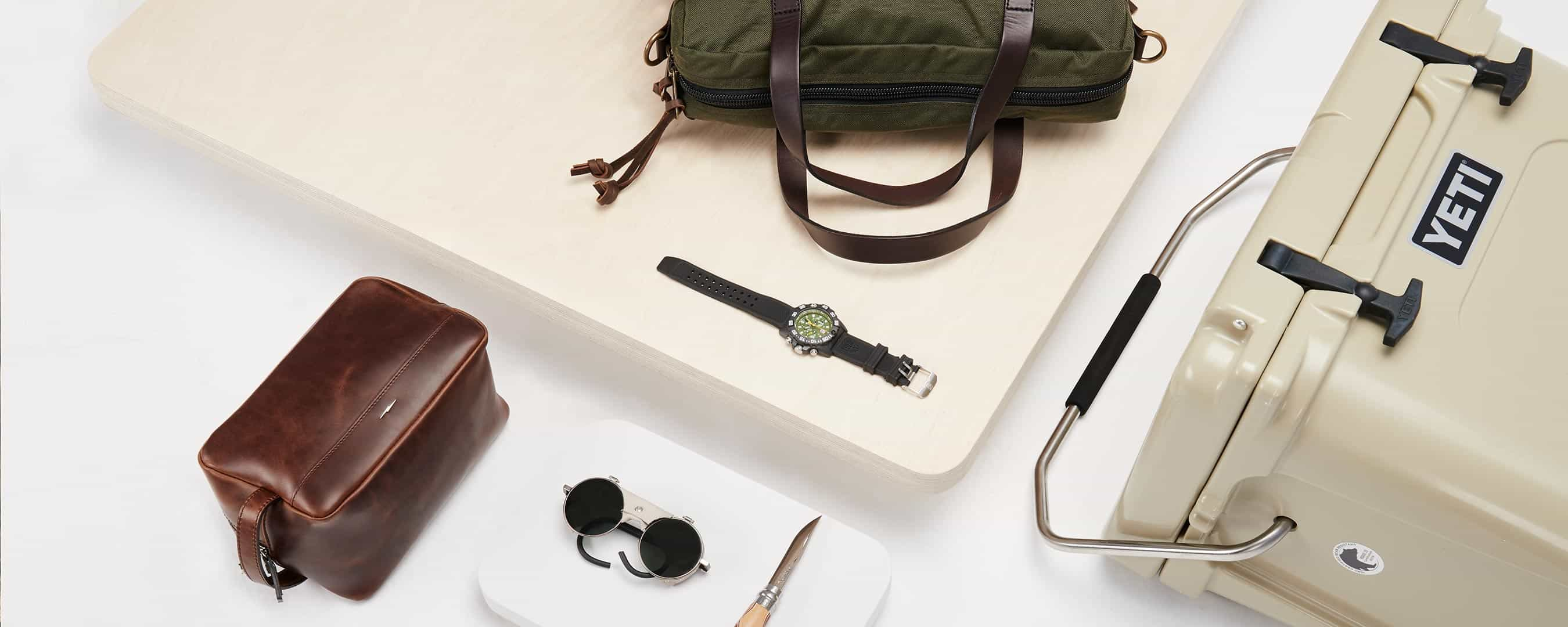 Arc'teryx, Barbour, Brixton, Florsheim, Frye, Garmin, Goal Zero, GoPro, Leatherman, Nixon, Opinel, Prestel, Sandqvist, Saucony, Scotch & Soda, Smith Optics, Suunto, The North Face, Timberland. Father's Day Gift Guide