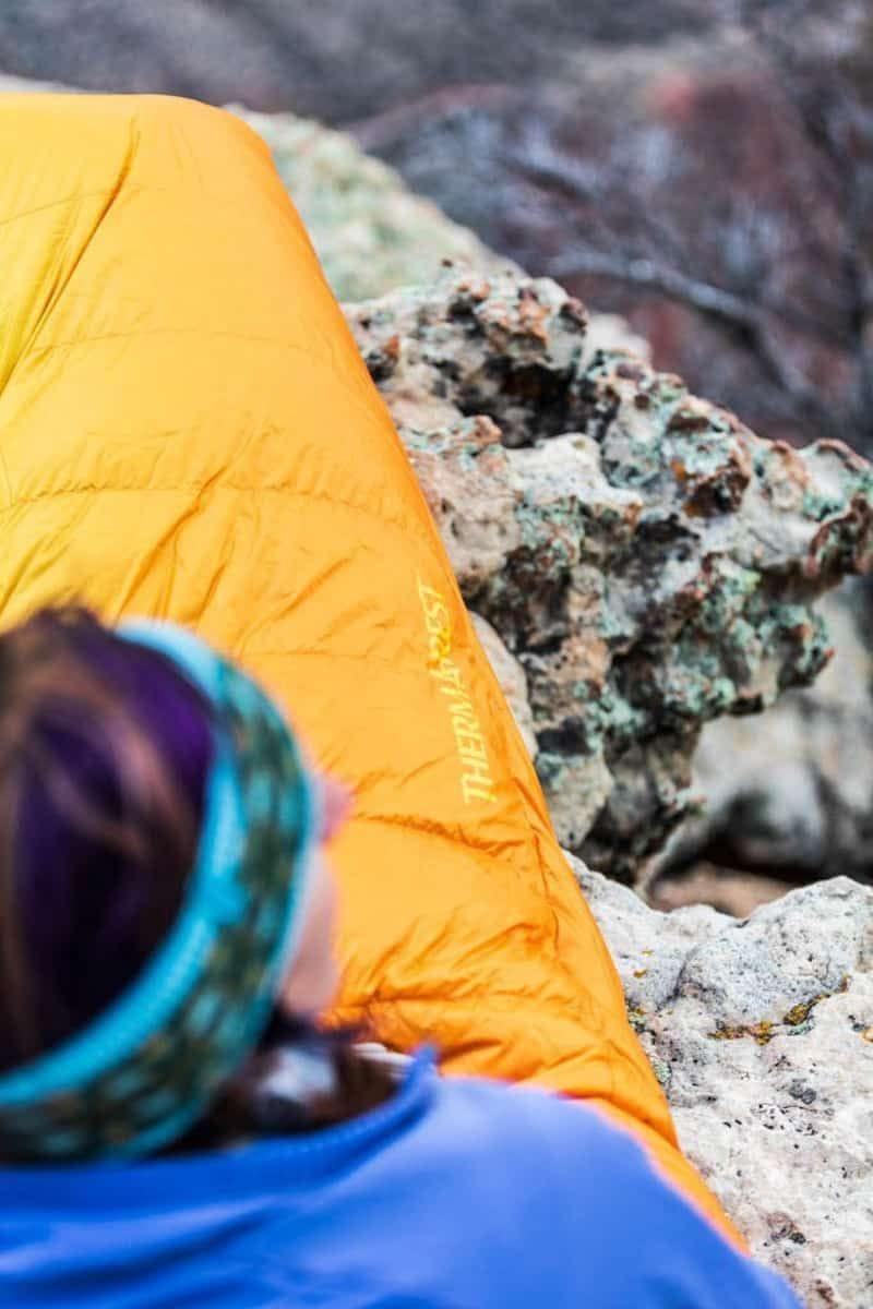 Thermarest yellow sleeping bag