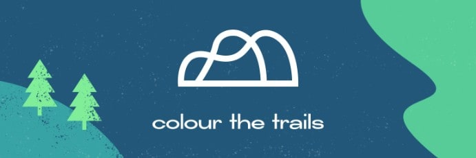 Colour the Trails logo for Alti Action 2021