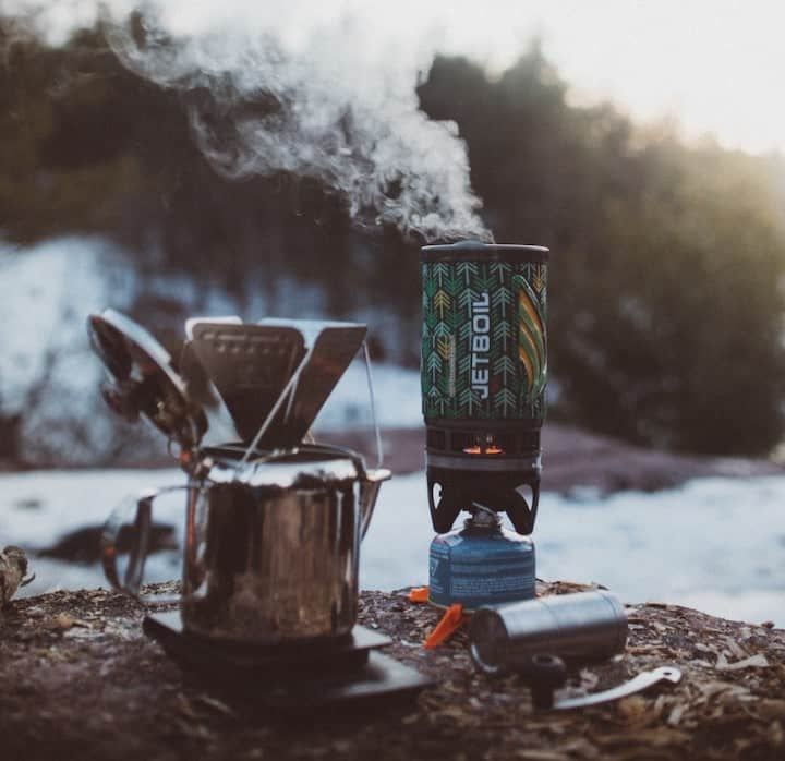 Jet boil camping stove example