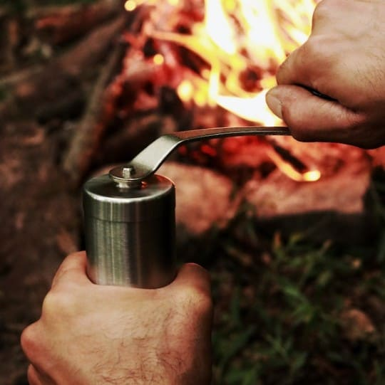 Example of a hand coffee grinder
