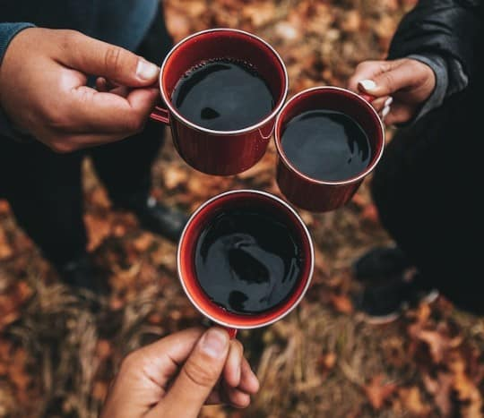 Example de tasses de café de camping